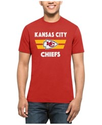 47 Brand '47 Men's Kansas City Chiefs Two Bar Splitter T Shirt Red