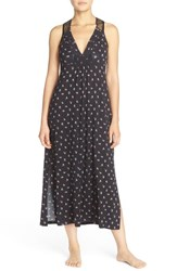 Midnight By Carole Hochman Women's Racerback Jersey Nightgown Distressed Dots