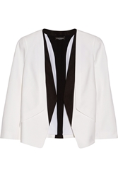 Narciso Rodriguez Silk Faille Trimmed Wool Crepe Blazer