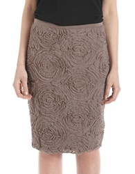 424 Fifth Petite Textured Floral Skirt Chantarelle