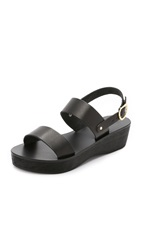 Ancient Greek Sandals Dinami Sabot Platform Sandals Black