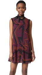 M Missoni Geo Knit Dress Fuchsia