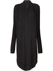 Lost And Found Cross Back Asymmetric Cardigan Black