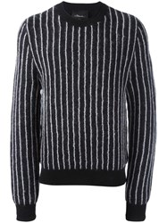 3.1 Phillip Lim Striped Jumper Black