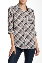 Blvd Plaid Hi Lo Shirt Multi