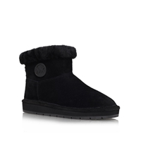 Winter Ankle Boots Black Leather
