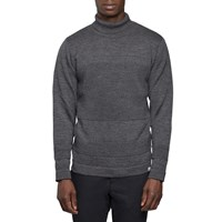 Norse Projects Charcoal Wool Roll Neck Sweater Grey