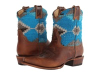 Stetson Serape Snip Toe Ankle Boot Brown Cowboy Boots