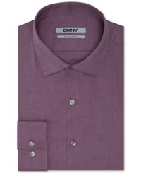 Dkny Slim Fit Solid Dress Shirt Rosewood