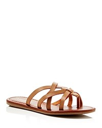 Mia Daniel Flat Sandals Compare At 39 Cognac