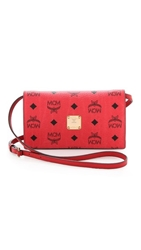 Mcm Cross Body Wallet Red And Pink