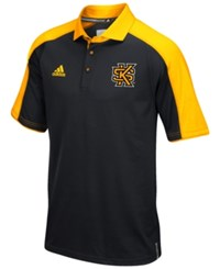 Adidas Men's Kennesaw State Owls Sideline Polo Shirt Black Yellow