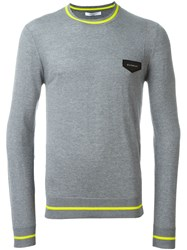 Givenchy Logo Patch Sweater Grey