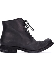 A Diciannoveventitre Lace Up Distressed Boots Black
