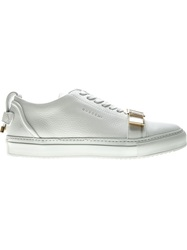 Buscemi Buckled Lace Up Sneakers White