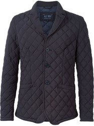 Armani Jeans Quilted Blazer Blue