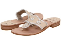 Jack Rogers Palm Beach Navajo Flat Bone White Women's Sandals