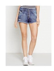 Diesel Geri Applique Denim Shorts Blue