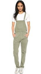 Ksubi Loose Fit Overalls Army Green