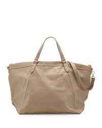 Lauren Merkin Nina Leather Zip Tote Bag Taupe