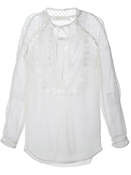 Chloe Chloe Layered Mesh Blouse White