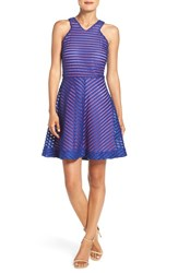 Lilly Pulitzerr Women's Pulitzer 'Megyn' Mesh Stripe Fit And Flare Dress
