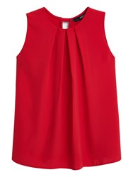 Mango Flowy Sleeveless Top Red