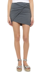 James Perse Cationic Twisted Miniskirt