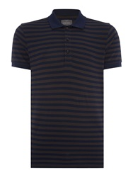 Peter Werth Boiler Textured Polo Slim Fit Polo Shirt Navy