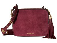 Michael Michael Kors Brooklyn Lg Camera Bag Plum Handbags Purple