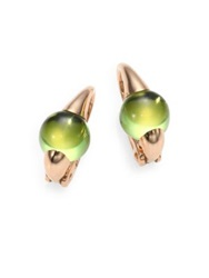 Pomellato Peridot And 18K Rose Gold Cabochon Earrings Rose Gold Green
