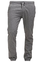 Edc By Esprit Trousers Light Grey Anthracite