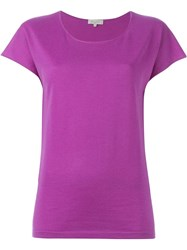 Etro Shortsleeved Knit Top Pink And Purple