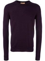 Etro Crew Neck Jumper Pink Purple