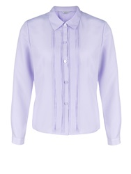 Eastex Lilac Box Pleat Blouse