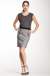 L.A.M.B. Plaid Pencil Skirt Black