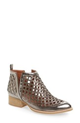 Jeffrey Campbell Women's 'Taggart' Cutout Bootie Pewter Leather
