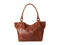 Frye Melissa Shoulder Cognac Antique Pull Up Shoulder Handbags Brown