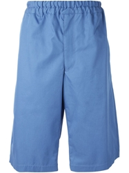 Alexander Mcqueen Loose Fit Shorts Blue