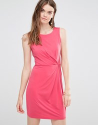 Lavand Asymmetric Gather Panel Dress Pink
