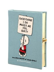 Olympia Le Tan Everything I Do Embroidered Book Clutch