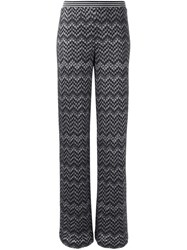 Missoni Zig Zag Print Trousers Black