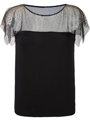 Versace Collection Lace Overlay Blouse Black