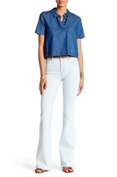 Mih Jeans Stevie High Rise Flared Jean White