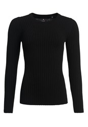 Superdry Luxe Wool Ribbed Knit Jumper Black