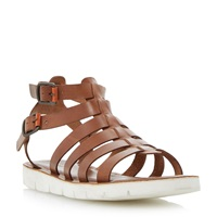 Dune Flameboy Buckle Fastening Casual Sandals Tan