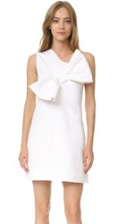 Victoria Beckham Twist Bow Dress Optic White