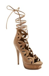 Women's Saint Laurent 'Tribute' Lace Up Platform Sandal