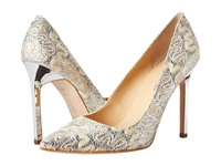Ivanka Trump Carra3 Cream Ivory Bridal High Heels Silver