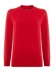 Pied A Terre Cable Turtle Neck Knit Red